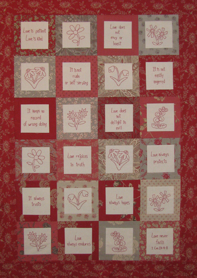 Love Is petit quilt